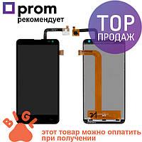 Дисплей для мобильного телефона Fly IQ4514, черный, с тачскрином / Экран для телефона Флай, черного цвета