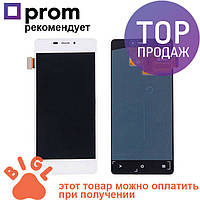 Дисплей для мобильного телефона Fly IQ4516, белый, с тачскрином / Экран для телефона Флай, белого цвета