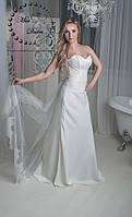 Платье свадебное айвори не пышное со скидкой