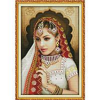"""Вышивка крестиком """"Индийская красавица 2""""  50*70  см."""