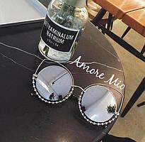 Очки женские солнцезащитные с украшением