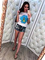 Джинсовые шорты с паетками