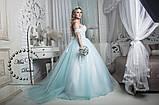 Сказочное свадебное платье бело-бирюзовое, фото 2