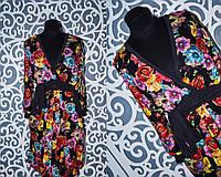 Женское платье с пришитым поясом 44, 46, 48 размер норма