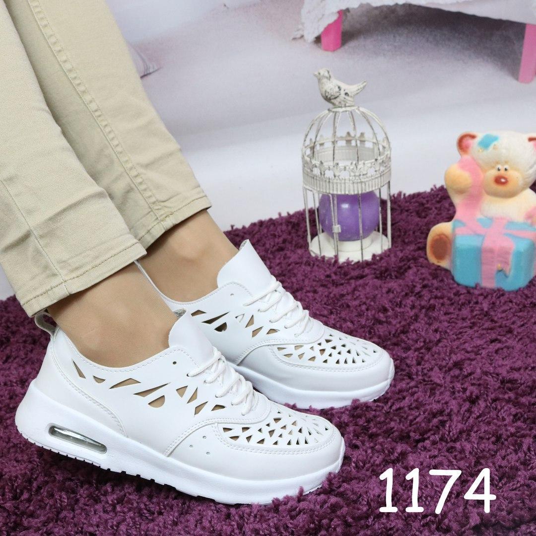 Женские мягенькие кроссовки сетка белые