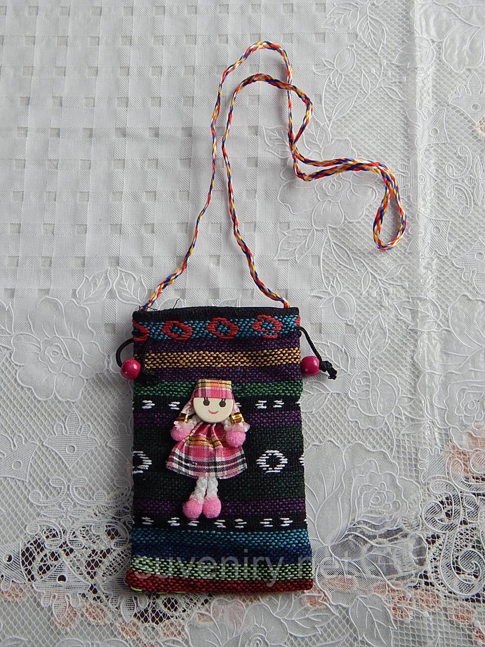 Женская сумка в карпатском стиле для телефона