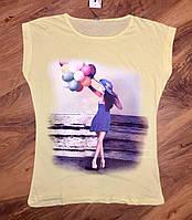 Женская футболка лимонная