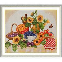 "Вышивка крестиком ""Осенний натюрморт"" 45х39 см."