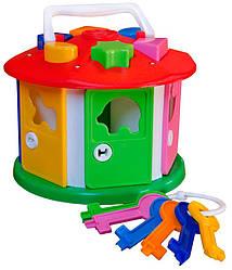 Детский развивающий домик-сортер Умный малыш.