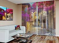 """ФотоТюль """"Арка в цветах"""" (2,5м*3,75м, на длину карниза 2,5м)"""
