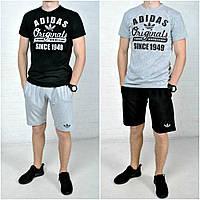 Спортивный летний комплект Adidas (футболка+шорты) Можно отдельно! Значок - прочная термопечать S M L XL