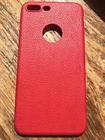 Красный тонкий силиконовый чехол под кожу iphone 7+/7S+, фото 1