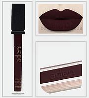 """Помада матовая суперстойкая Liquid lipstick Aden """"Самый тёмный"""" № 32, фото 1"""