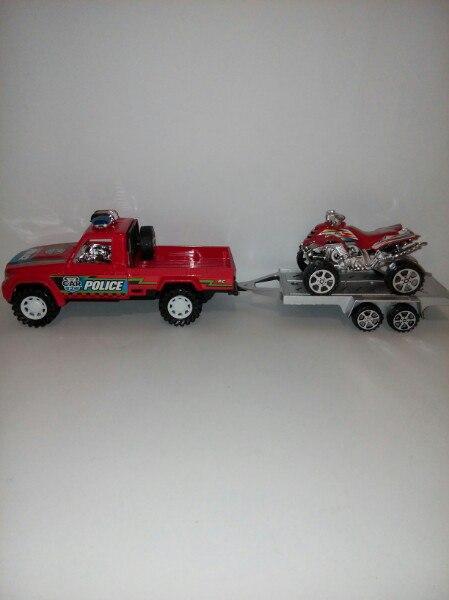 Трейлер полиция и мотоцикл