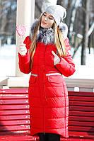 """Женское зимнее пальто """"Кэт"""" больших размеров"""