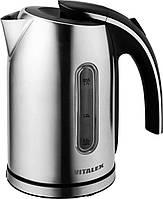 Электрический чайник Vitalex VT-2012, электрочайник 1,7 л, чайник из нержавеющей стали