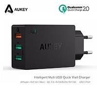 Aukey PA-T2 - 3-х портовое турбо зарядное с Quick Charge 2.0