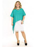 Кружевное платье с шифоновой накидкой