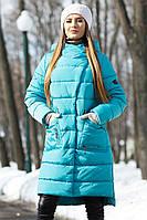 """Женское зимнее пальто """"Рива"""" больших размеров"""