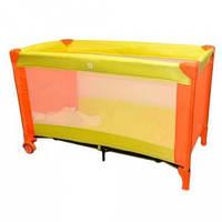Манеж кровать оранжевый Bambi (QX 805-7)
