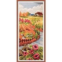 """Вышивка крестиком """"Осенний пейзаж""""  23*43 см."""