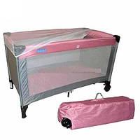 Манеж кровать розовый Bambi (QX 805-8)
