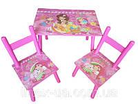 Детский столик и два стульчика Девочки (W02-5150 (2547-23)), фото 1