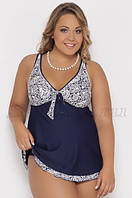 Танкини- платье  темно синего  цвета