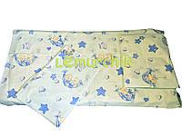 Постельный набор в детскую кроватку (3 предмета) Мишки в гамаке бирюза