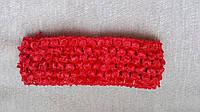 Повязка для волос красная, 7*14 см