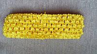 Повязка для волос желтая, 7*14 см