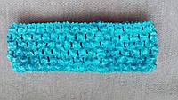 Повязка для волос голубая, 7*14 см