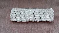 Повязка для волос белая, 7*14 см