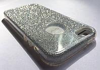 Diamond silver блестки силиконовый чехол для iPhone 5 5S SE