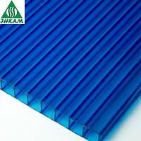 Поликарбонат сотовый Vizor 10мм синий
