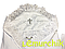Набор для крещения белый (крыжма+рубашка на завязочках+чепчик с крестиком) байковый, фото 2