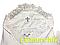 Набір для хрещення білий (крижма+сорочка на зав'язочках+чепчик з хрестиком) байковий, фото 2