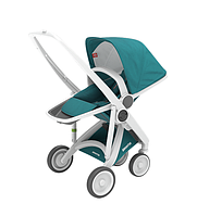 Greentom - Прогулочная коляска Upp Reversible, цвет Teal - белое шасси
