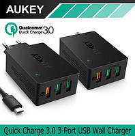 Aukey PA-T14 - 3-х портовая турбо зарядка + Quick Charge 3.0