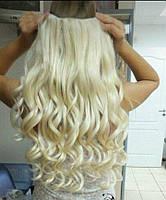 Одиночная широкая прядь кудрявая цвет №613 блонд с желтинкой