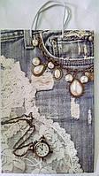 Пакет подарочный бумажный большой вертикальный 25х39х9 (27-016)