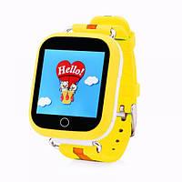 Умные детские часы с GPS трекером Smart Baby Watch Q100S/Q750 Желтые