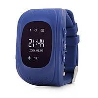 Умные детские часы с GPS трекером Smart Baby Watch Q50 (OLED) Синие