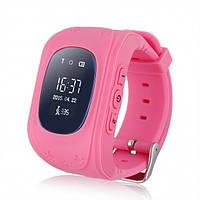 Умные детские часы с GPS трекером Smart Baby Watch Q50 (OLED) Розовые