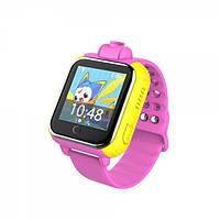 Q200 Умные детские часы с GPS трекером Smart Baby Watch Розовые (Android + Камера)