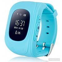 Умные детские часы с GPS трекером Smart Baby Watch Q50 (OLED) Голубые