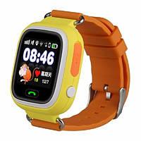 Умные детские часы с GPS трекером Smart Baby Watch Q100 Оранжевые