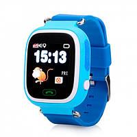 Умные детские часы с GPS трекером Smart Baby Watch Q100 Голубые