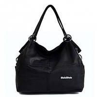 Женская кожаная сумка через плечо WeidiPolo Чёрная (Есть 3 цвета)
