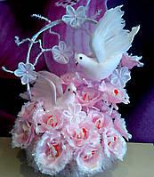 Букет из конфет, подарок на свадьбу ручной работы Нежная любовь